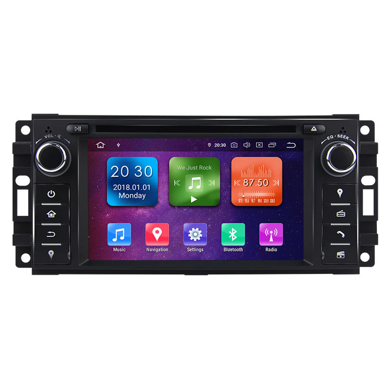 "3G WiFi 6.2 ""1 Din Android 9.0 Octa-Core 4G + 32G Car <span class=keywords><strong>DVD</strong></span> Player für Compass Caliber Sebring 300C Grand Cherokee Wrangler Journey"