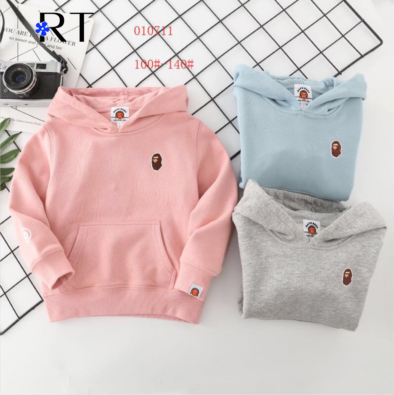 Unisex Kids 100%Cotton Hoodie Sweatshirt Baby boys' Plain Blank Hoodies Kids Sweatshirts Children Hoodies for Boys and Girls