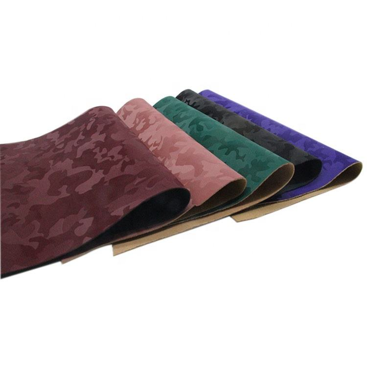 Camouflage pattern reflective pu leather for making shoes and bags