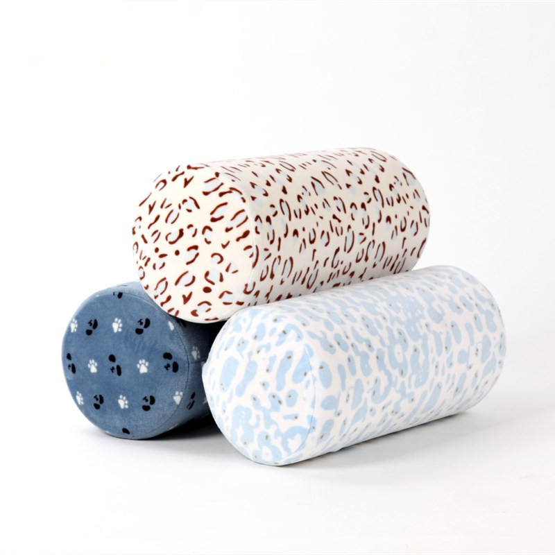 Lanxi Yide new design Cylinder memory foam tube neck pillow