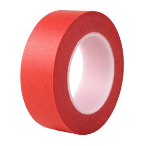 manufacture custom PET red crepe masking tape Heat-resistant spray painting single side adhesive No residue masking paper tape