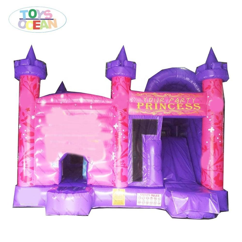 Lovely kids Princess Bouncy Prices Castle Jumping Inflatable trampoline for girl party