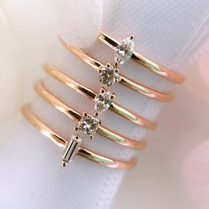 0.84 gram 18K Solid Gold White Crystal 1 gram gold ring designs