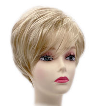 Short Curly Synthetic Wig Heat Resistant Layered Hair Wigs Short Blonde Pixie Cut Wigs for Women With Bang
