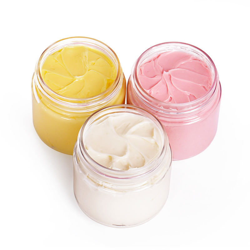 Customize Private Label Organic Moisturizing Vanilla Coconut Rose Whipped Raw Shea Butter