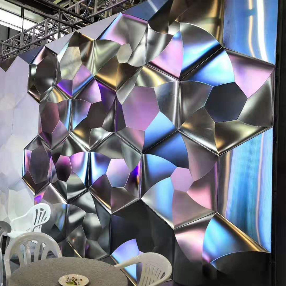 Outdoor or Indoor Aluminium or Stainless Steel 3D Wall Panel for Building Curtain Wall or Garden Sculpture