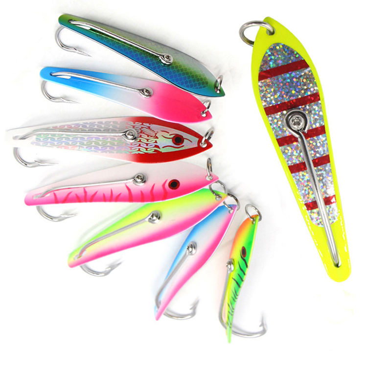 125MM Stainless Steel Spoon Lure With Single Hooks Fishing Metal Baits Big Game spinner spoon Lures