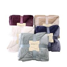 Multiple Color Options Custom Design Cheap Soft Throw Sherpa Blanket Super Soft For Sale