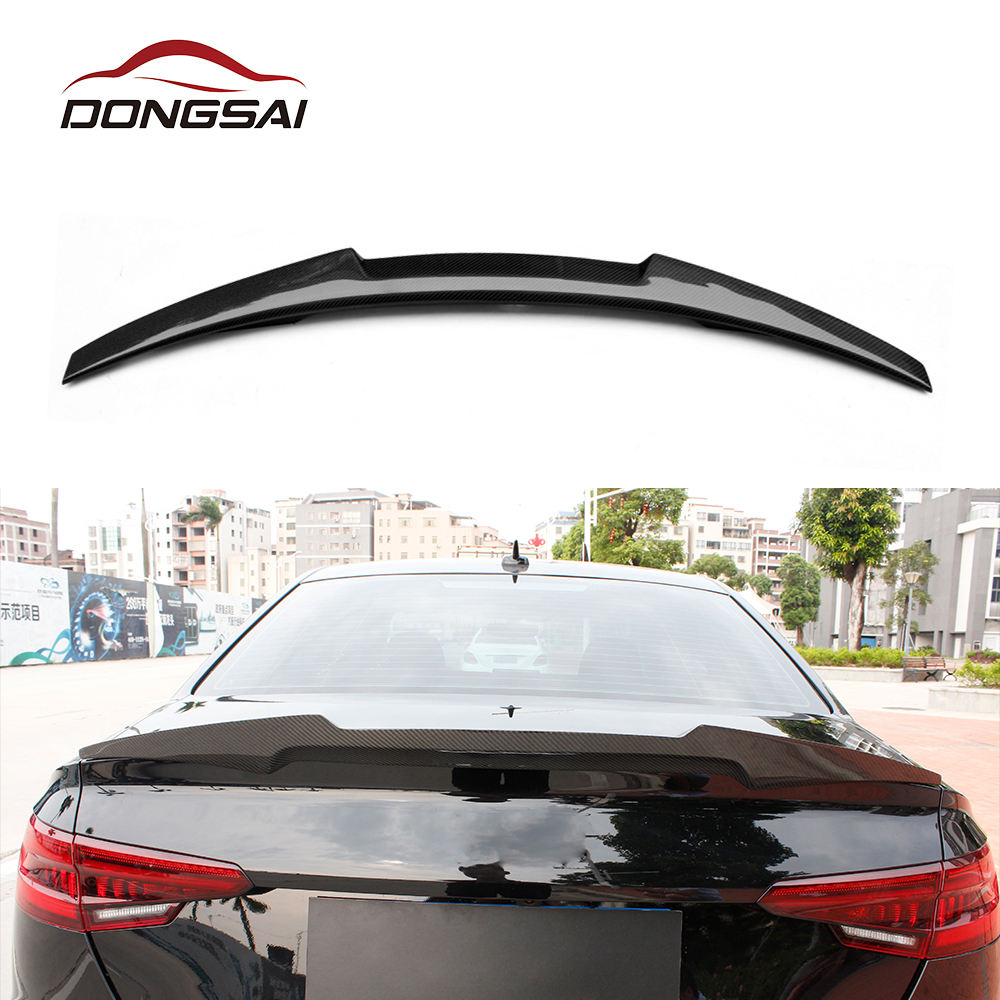 M4 style carbon fiber rear spoiler for Audi A4 B9 2017-IN spoiler wing