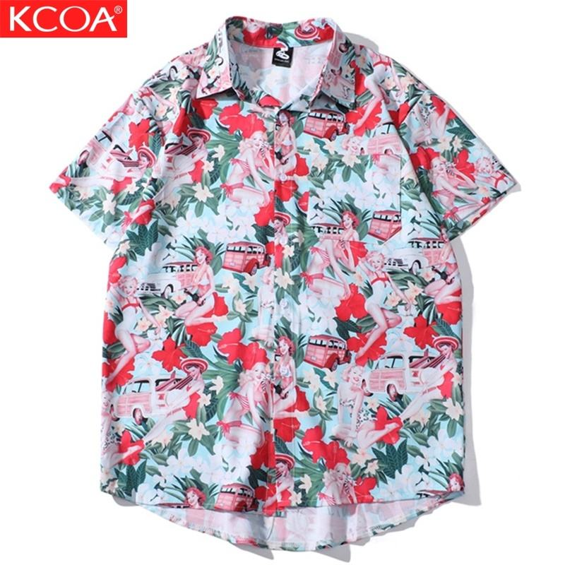 Ready To Ship Sublimation Polyester Men's Plus Size Hawaiian Shirt Custom Causal Beach Shirt For Men