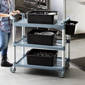 Grey Mobile Vending Cart Food Truck New Product 2020 Bussing Cart with Three Shelves