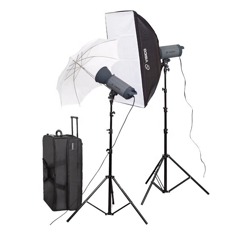Photography Equipment Studio Flash Light Soft Box Kit with Flash Head Reflector Light Stand Photo Umbrella Softbox Kit Bag