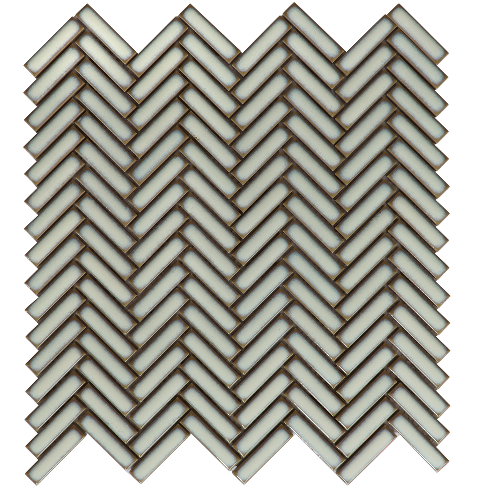 Color Variation Splashback Glazed Ceramic Mosaic Herringbone tile