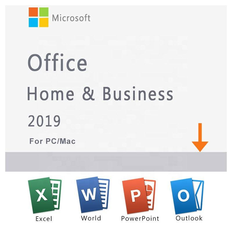 2019 New Software Microsoft Office Home and Business 2019 License Key Activated by Telephone HB Activation Code Download digital