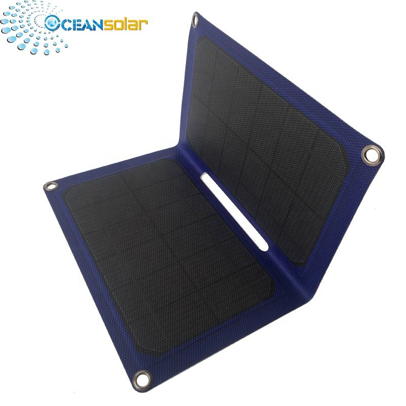 14w 15w foldable waterproof solar charger etfe flexible solar panel with type-c