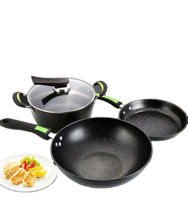 custom kitchen practical non stick cooking pans cast iron cookware set
