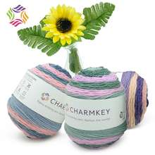 Charmkey wholesale 50% Acrylic & 50% Polyester cake fancy blended yarn used for crocheting scarves socks
