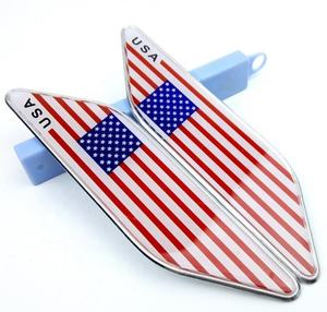 3D USA America Flag Badge Deutsch Car Sticker Decal Grille Bumper Window Body Decoration Emblem
