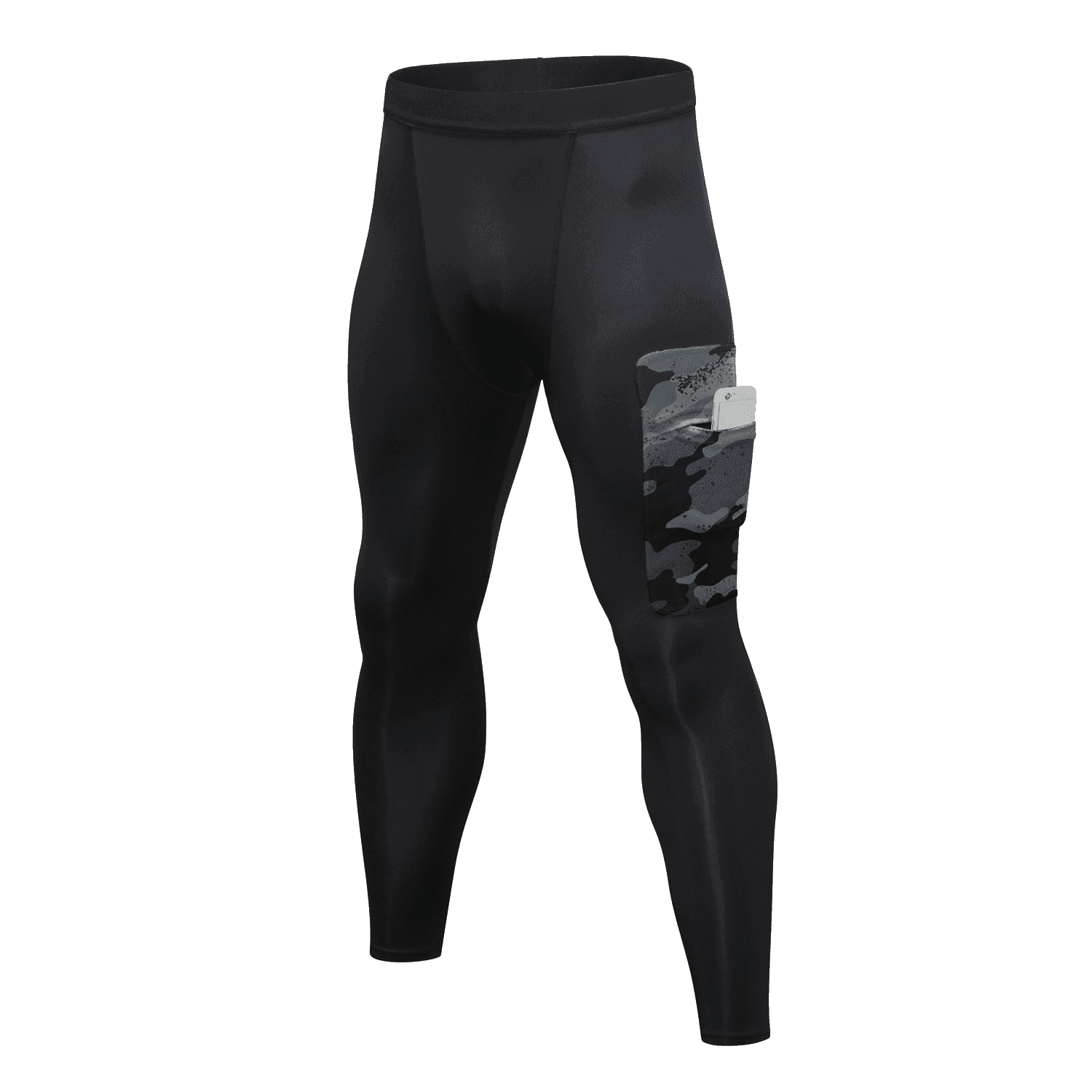 Man Sports Wear Leggins Compression Tights Running Leggings Elastic Band Compression Pants Men Tights with Camouflage Pocket