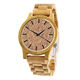 dropshipping luxury custom bamboo strap cork dial wood minimalist watch