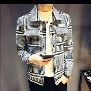 Warm And Leisure Snap Button On Cuff And Placket With Chest Pocket Spring Autumn And Winter Young Men Coat Jacket