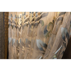 Luxury Gold Embroidered turkish style embroidered sheer fabric Curtains