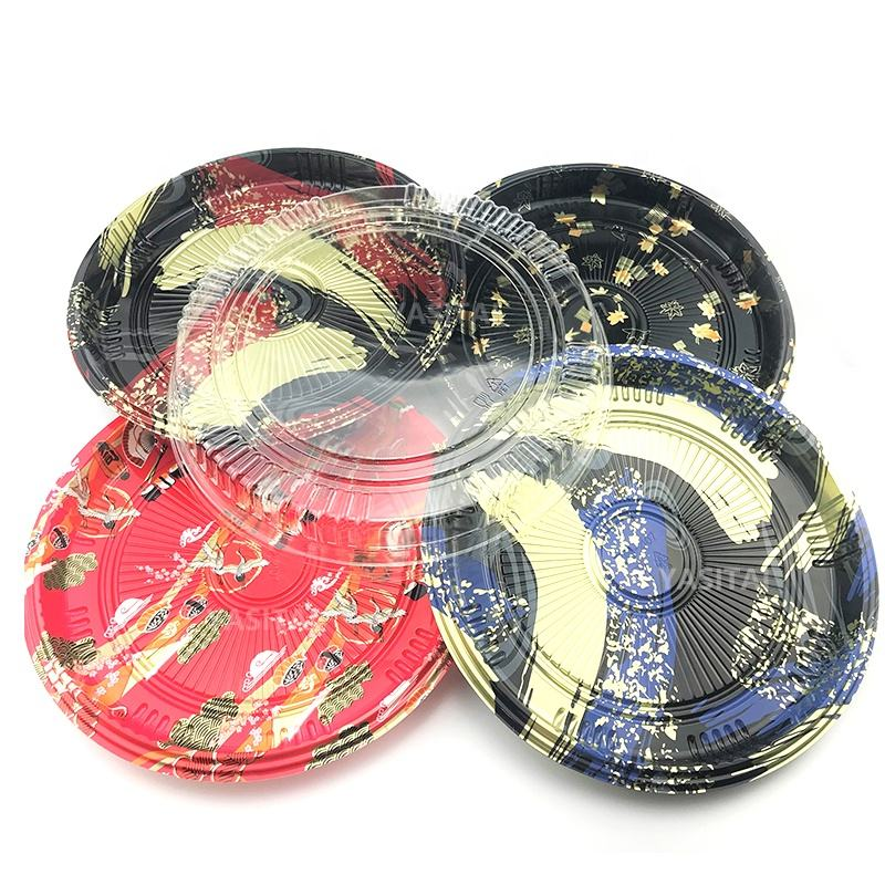 Best selling hot chinese products party trays round sushi trays