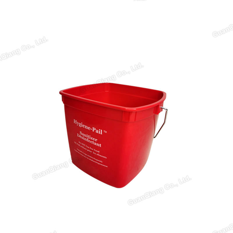 Small cleaning water bucket pails hygiene handy plastic square pail with metal handle