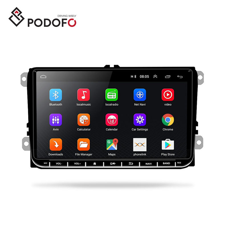 Podofo 9'' 2 Din Android 8.1 Car Radio Stereo Video Autoradio GPS Wifi BT For Volkswagen/VW/Polo/Passat /SEAT/Toledo