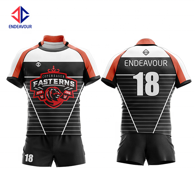 Wholesale custom oem sublimation new zealand rugby shirt shorts jersey fabric for sale
