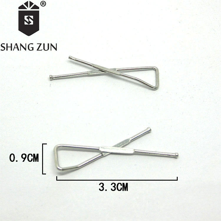 Double Sided Design Shang Zun 20 Pcs Golden Stainless Steel Collar Stays in Blue Box