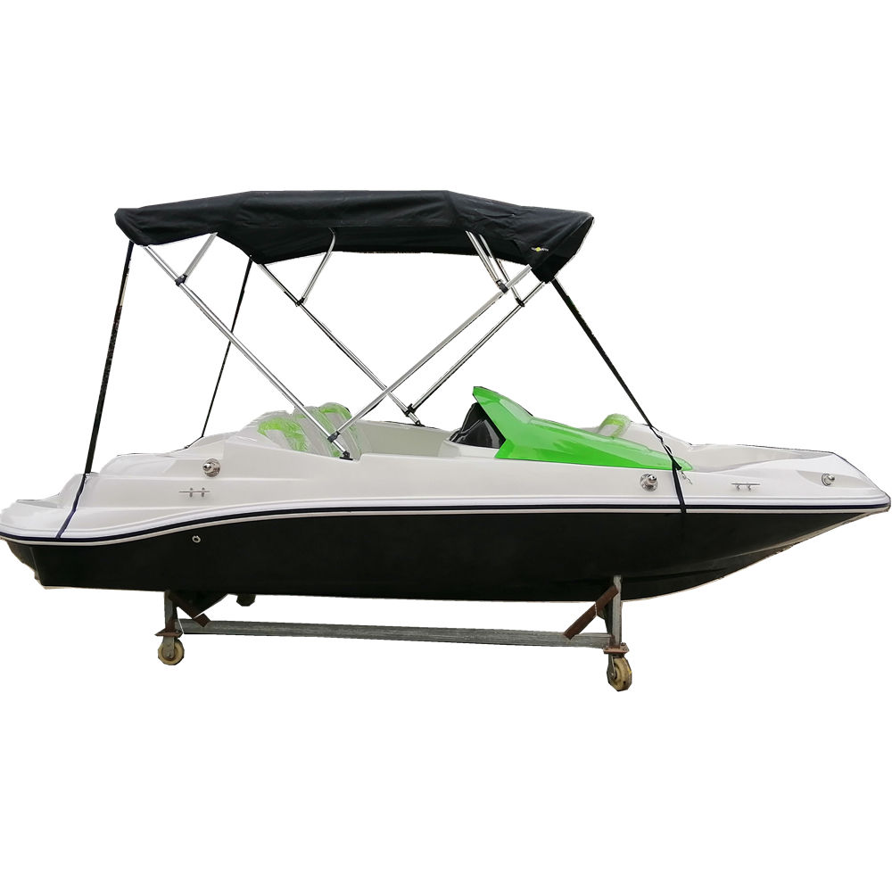 Small 15ft long V shape new green China fiberglass wakeboard ski boat