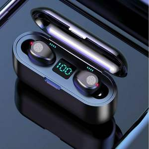 Top Touch Control Noise Cancelling Airbuds Wahre Wireless Stereo F9 Bluetooth Ohrhörer Schwarz Mini Drahtlose Ohrhörer