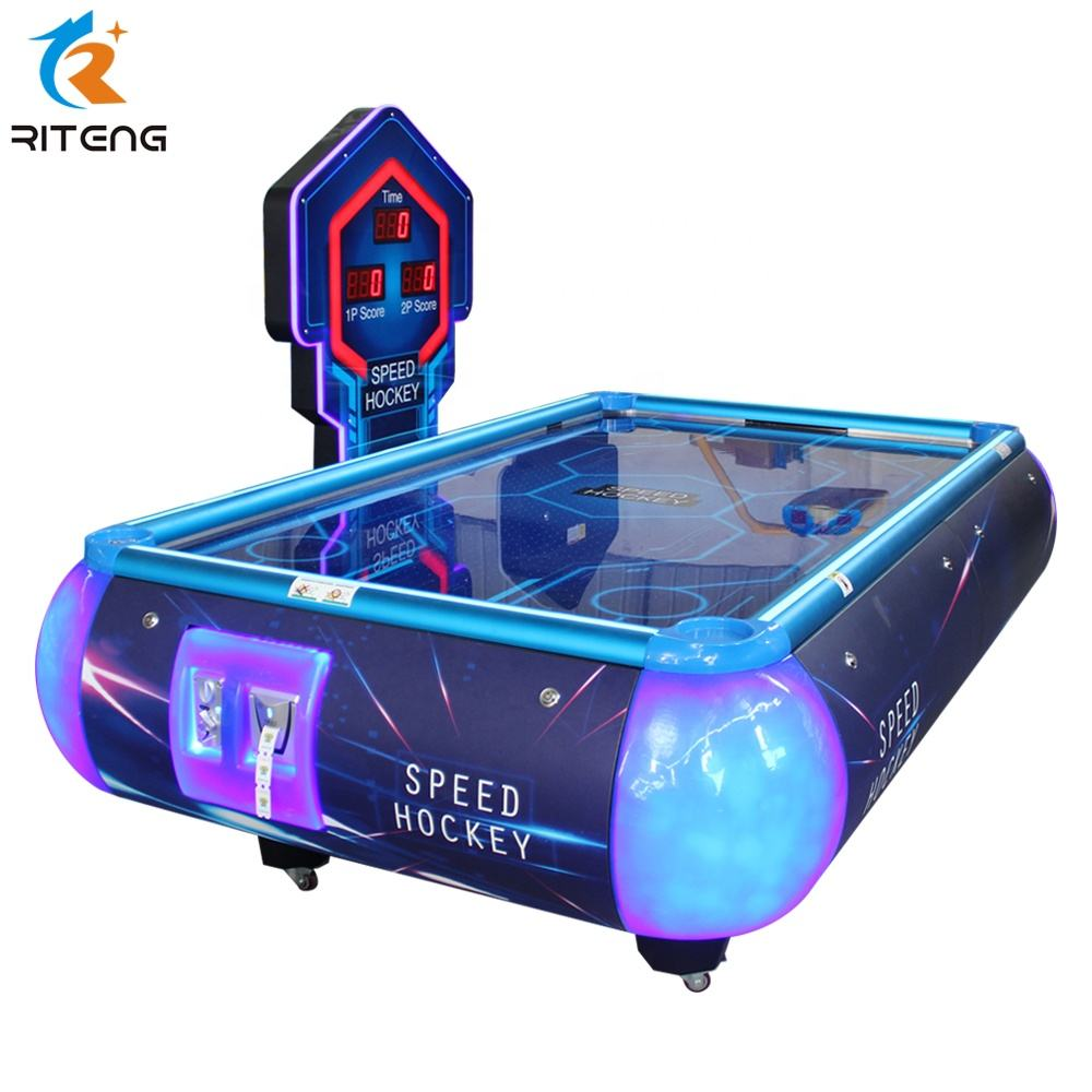 Coin operated amusement machine air hockey indoor