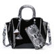 famous brands 2019 tote designer snake skin handbags sets 2pcs ladies handbags women Purse and wallet