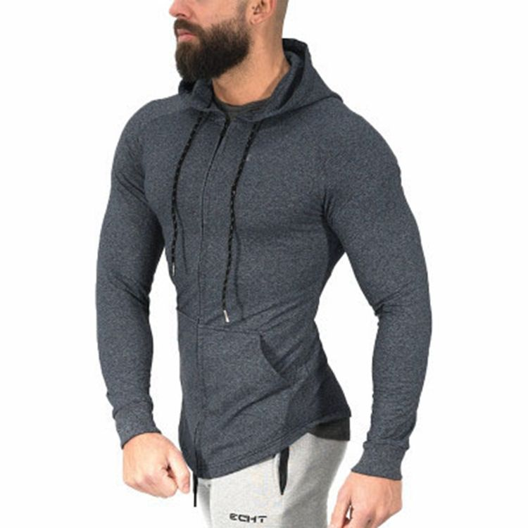 Custom Wholesale Fitness Clothing Mens Top Compressions Sports Hoodies