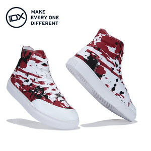 2020 Voice of earth F0312501 design custom one pair printing canvas men shoes
