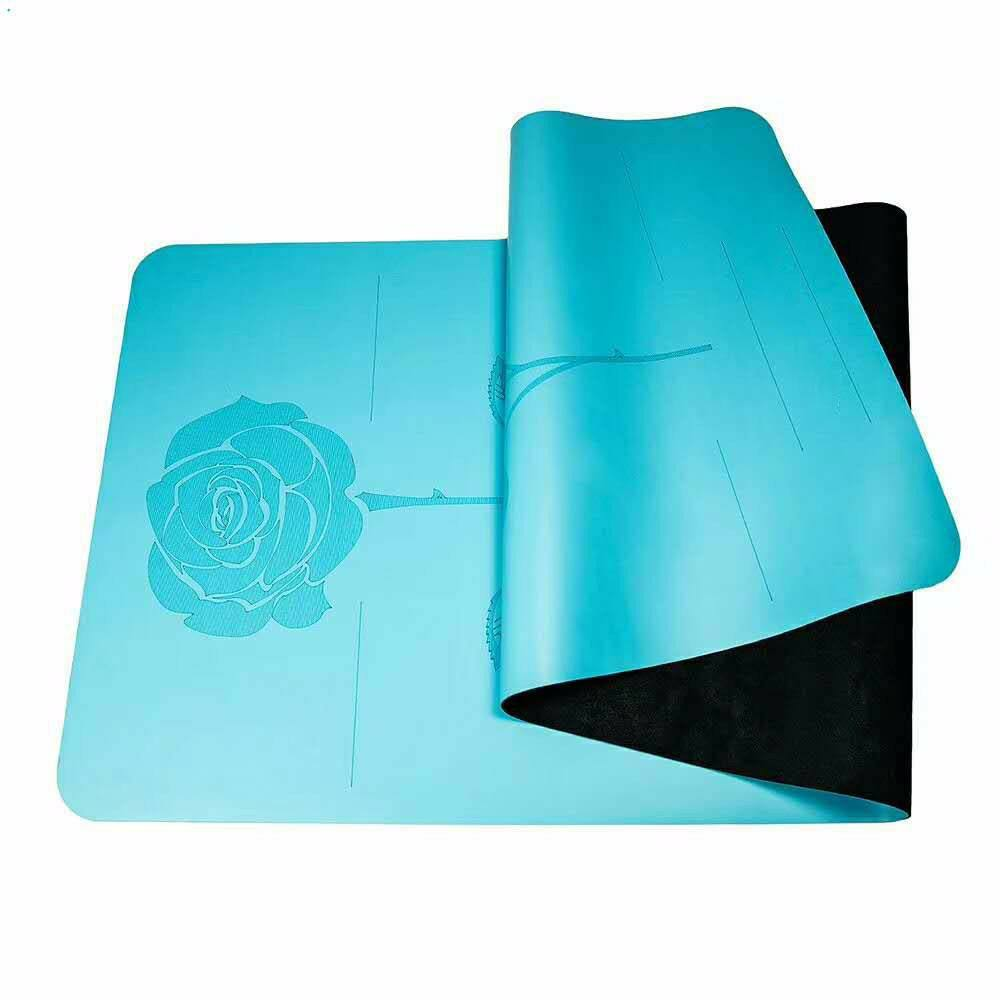 PU Custom LOGO ECO-friendly Natural Rubber Fitness Colorful Yoga Mat