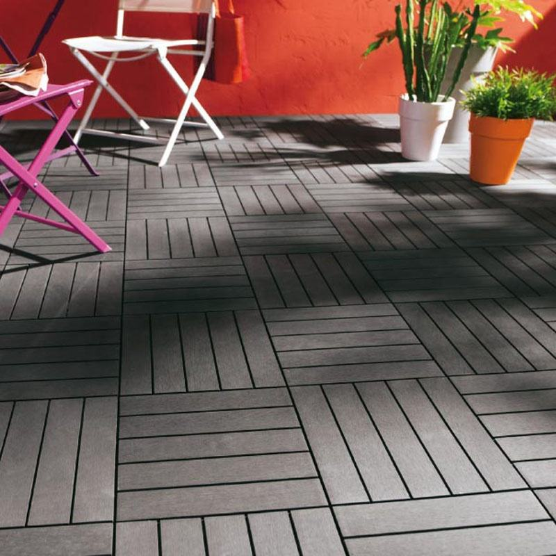 easy to install outdoor patio interlocking wpc decking tiles