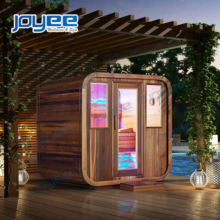 JOYEE Home factory price Finland Wood Red Cedar Sauna Outdoor garden rooms and cabin house Sauna