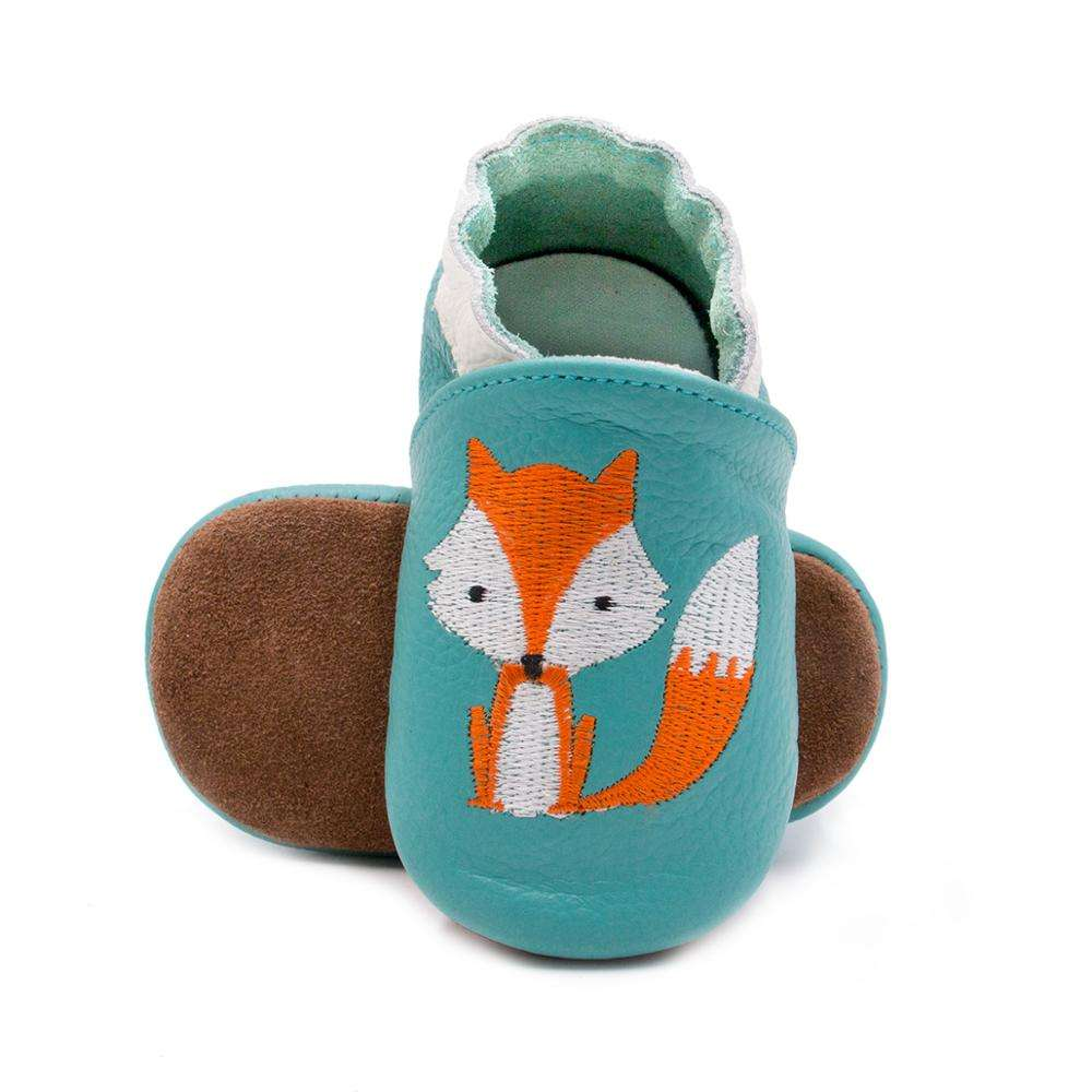 New Skid-Proof Fox Baby Shoes Soft Genuine Leather Baby Boys Girls Infant Toddler Moccasins Shoes Slippers Drop Shipping