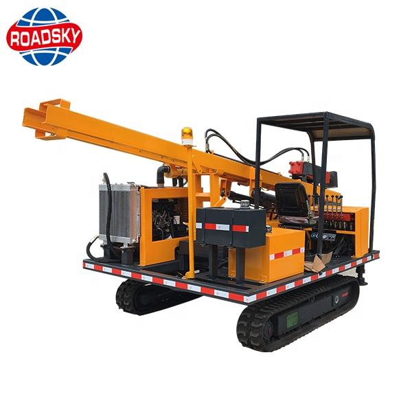 Road Construction Safety Guardrail Hydraulic Pile Driving Machine