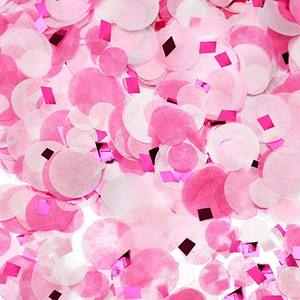 Pink Rose Red Confetti Paper Confetti Circles, Party Table Confetti Dots 1 inch for Holiday Anniversary Birthday wedding de
