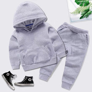 High quality custom private label Toddler Tracksuits Clothes Hoodies Pants 2 pcs set Cotton Suits Baby Boys kids Clothing Sets