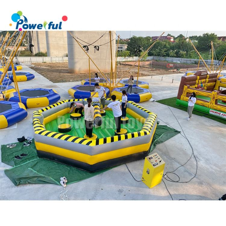 6 person wipeout meltdown guangzhou inflatable wipeout eliminator