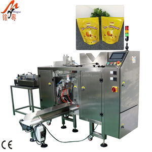 Zip-Lock Or PE Gussett Syrup Prmeade Pouch Pick Fill Seal Filling Sealing Mini Doypack Packing Machine