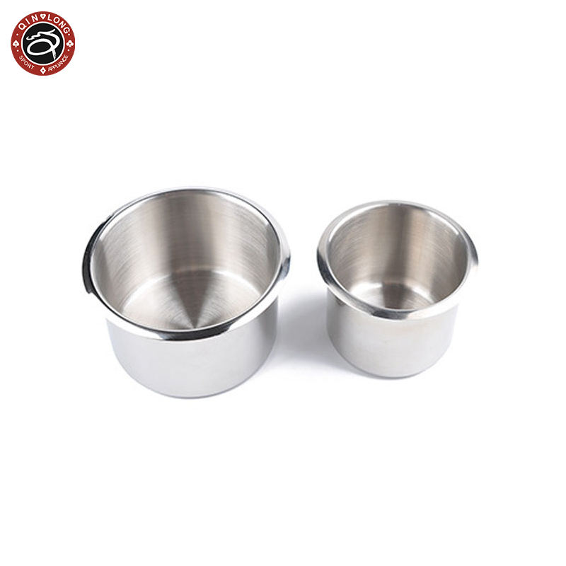 Large and small copper Cup stainless steel coke holder ashtray Texas poker table entertainment game table accessories