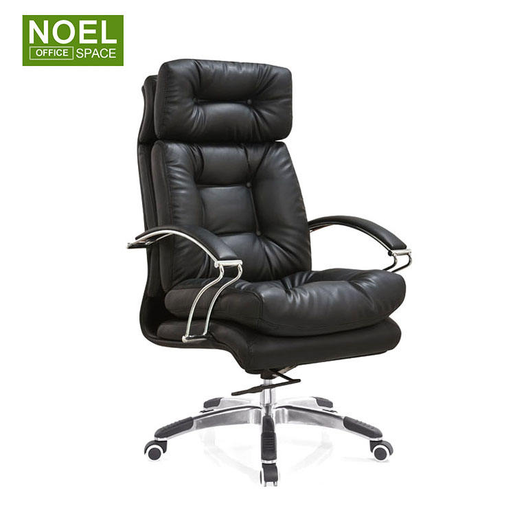 Executive Office Chair with Lumbar Support Arms Executive Judge Task chair Rolling Swivel PU Leather Chair