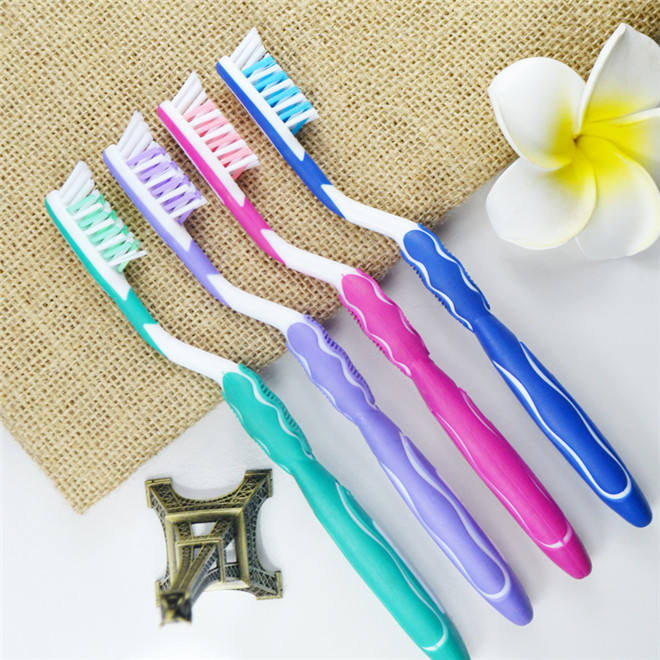 Costom bright white teeth bristle material pp toothbrush for dental