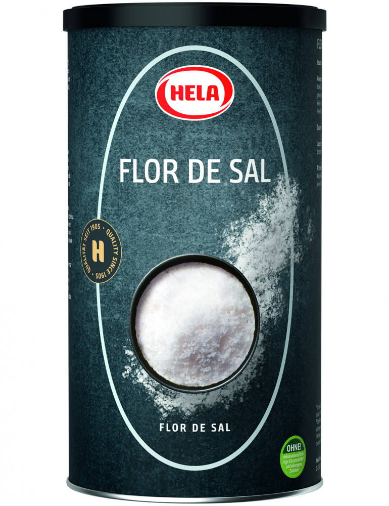 Fine aromatic sea salt taste. For beef, pork, lamb, game, poultry, foie gras, fish, salad, tomatoes, cucumbers.